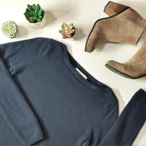 Peck & Peck | 100% Navy Blue Cashmere Sweater